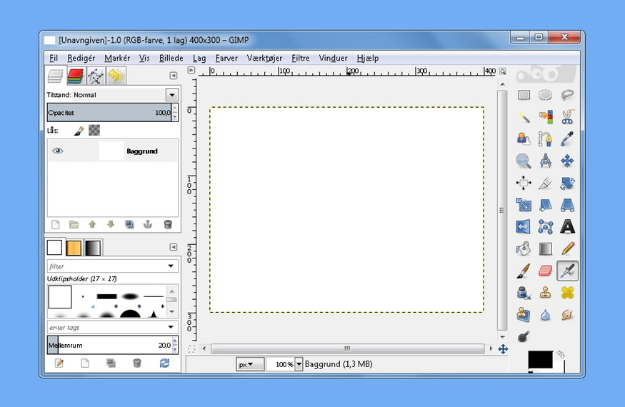 GIMP brugerflade