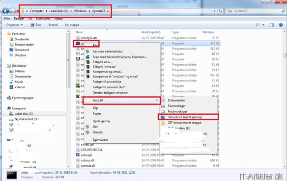 Smutvej til Windows 7 system programmer | IT-Artikler.dk