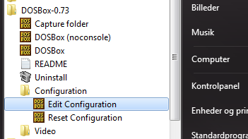 Dosbox configuration