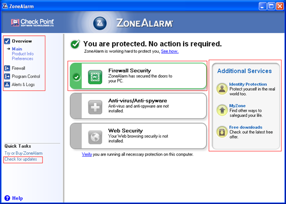 zonealarm windows
