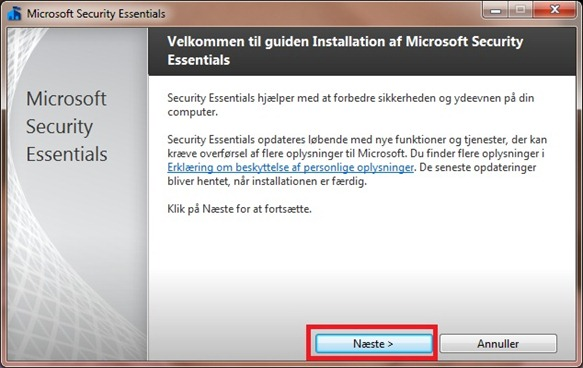 Microsoft Security Essentials guide