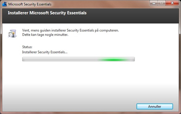 Microsoft Security Essential install