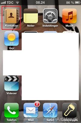 iPhone kontakter