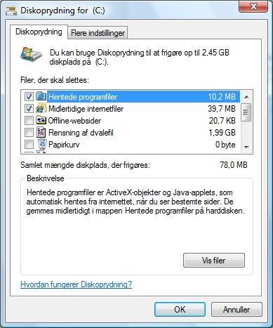 Diskoprydning på Vista / XP | IT-Artikler.dk
